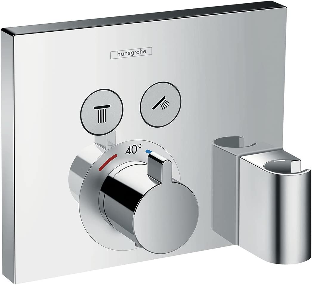 Hansgrohe 15765000 ShowerSelect termostato con 2 llaves de paso ...