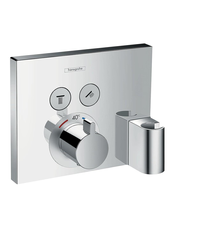 Hansgrohe 15765000 ShowerSelect termostato con 2 llaves de paso, toma de agua y soporte, cromo: Amazon.es: Bricolaje y herramientas