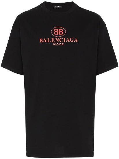 Balenciaga - Camiseta - para Hombre Negro Negro (Large: Amazon.es: Ropa y accesorios