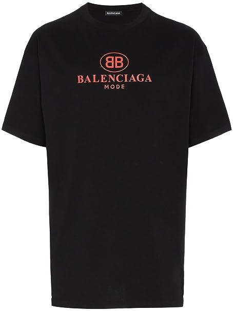 Balenciaga - Camiseta - para Hombre Negro Negro (Large  Amazon.es  Ropa y  accesorios fe5f525b5274
