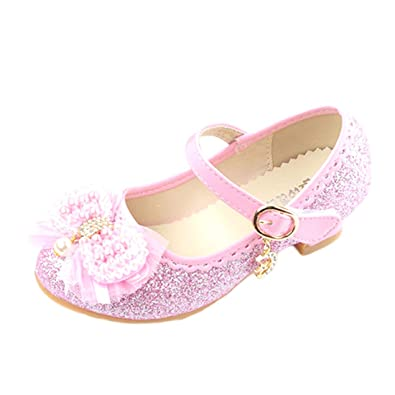 JTENGYAO Baby Grils Dress Up Princess Shoes Glitter Party Shoes Sandals