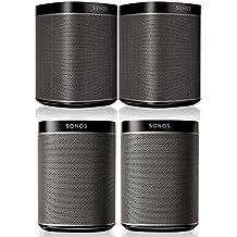 Sonos PLAY:1 Multi-Room Digital Music System Bundle (4 - PLAY:1 Speakers) - Black