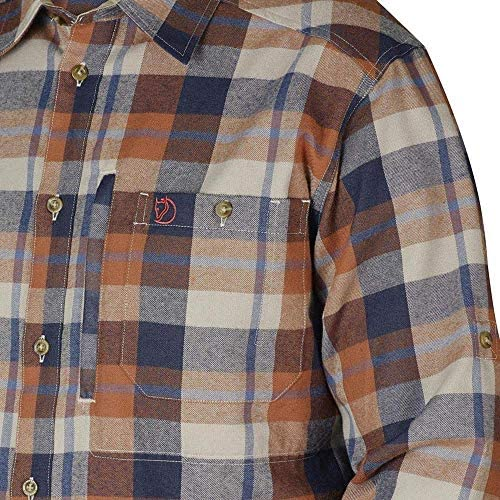 Fjällräven Fjällglim Shirt Ls M Long Sleeved T-Shirt - Brown, X-Large