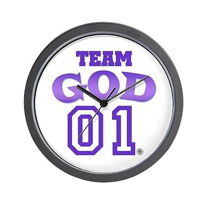 5c643e55fd9 Amazon.com  CafePress - Team God Wall Clock - Unique Decorative 10 ...