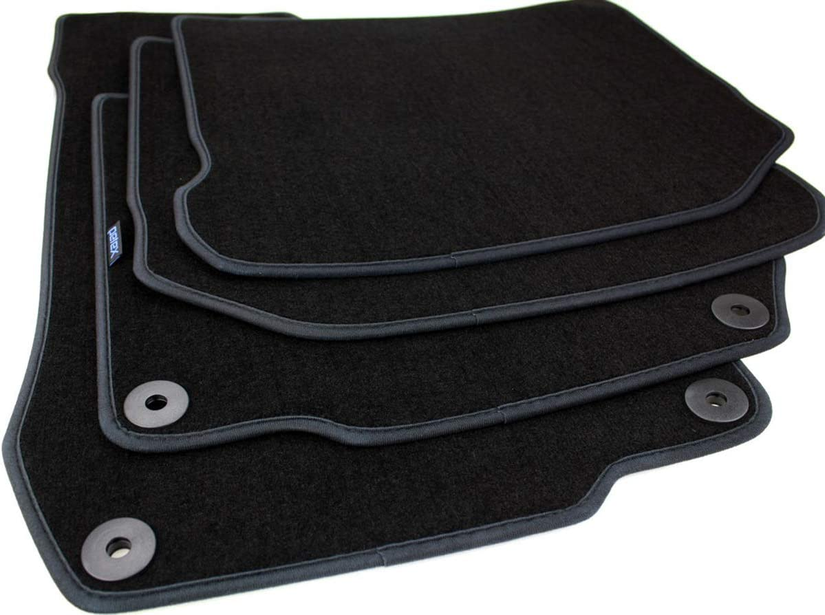 para VW sustancia maletero, 117356304 Petexajuste felpudo terciopelo-Negro