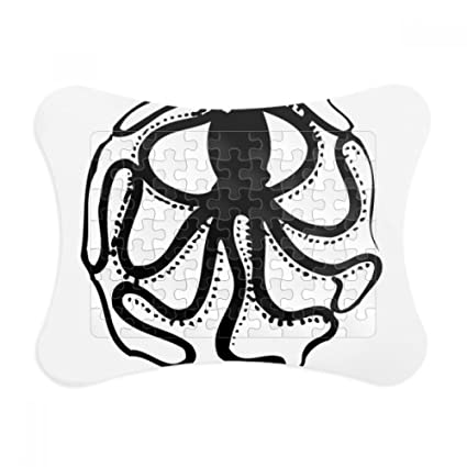 Amazon.com: Black Octopus Marine Life Pattern Paper Card Puzzle ...