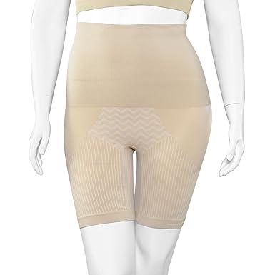 c7635d8092 SANKOM Beige Thigh Slimming Tummy Waist Control Posture Shaper Shapewear  with Cooling Fibers S M