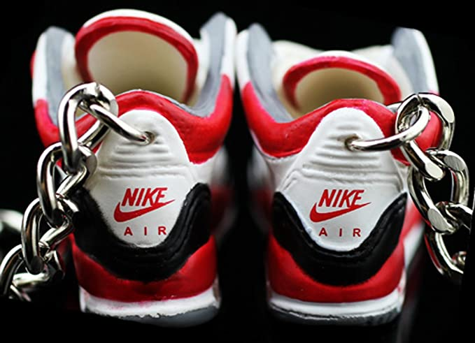 0a58ace5b8afc3 Amazon.com   Air jordan III 3 Retro Cement Fire Red White Sneakers Shoes 3D  Keychain   Everything Else