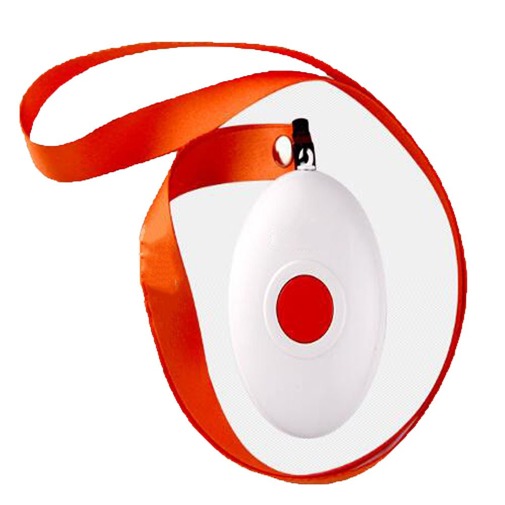 GEXING Wireless Remote Control Button Lanyard Pager Elderly Elderly Patient Pregnant Women With Disabilities Home,White