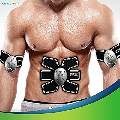 ABReflex Six Pack Abs Abdominal Trainer Fitness Toning Pad | Complete Workout Transform Wireless Exercise Simulator Weight Loss Muscle Flex Tech with Controller