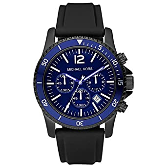 40ad330e6228 Image Unavailable. Image not available for. Color  Men s Jet Set Watch with Blue  Chronograph Dial