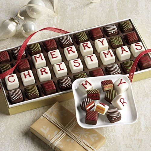 Merry Christmas Petits Fours from Wisconsin Cheeseman (Desserts Christmas)