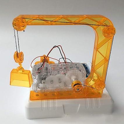 Amazon.com: Ktyssp DIY Grúa Eléctrica Modelo de la Ciencia ...