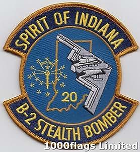 Espíritu de Indiana 20Northrop Grumman b-2spirit Stealth Bomber nosotros fuerza aérea parche bordado