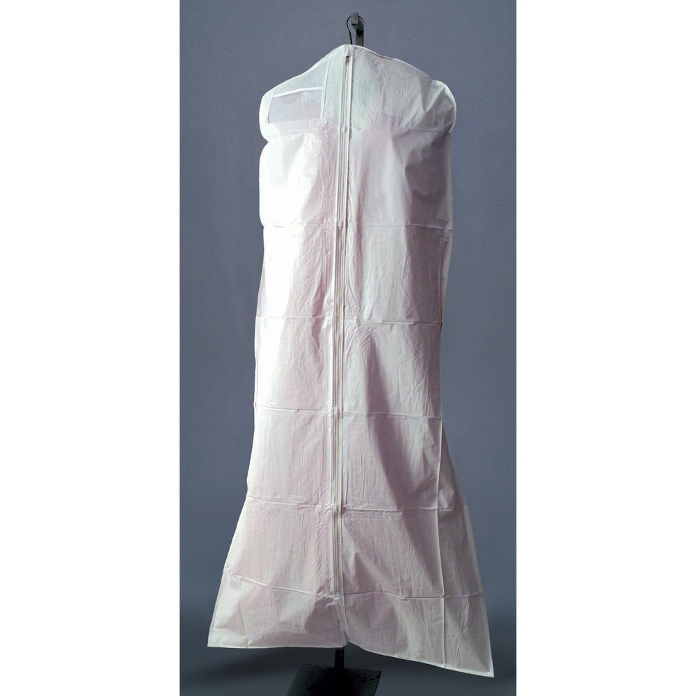 72 (L) White Garment Bags Case of 36 by Retail Resource
