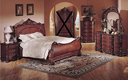 Amazon Com Gtu Furniture Traditional Style Rich Cherry 6pc Wooden