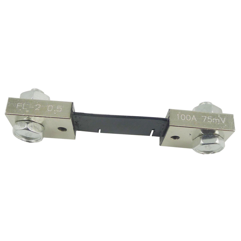 EasyWordMall 100A 75mV Amperemeter Shunt Widerstand f/¨/¹r DC Current Meter Amp Analog Panel Amperemeter