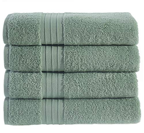 - Hammam Linen HL Luxury Hotel & Spa Bath Towel Turkish Cotton Bath Towels - Sage Green - Set of 4, 27