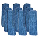 Think Crucial 9 Replacements for Bona Microfiber Cleaning Pads Fits 15-inch Hardwood Floor Mops, Compatible With Part # AX0003053, Washable & Reusable