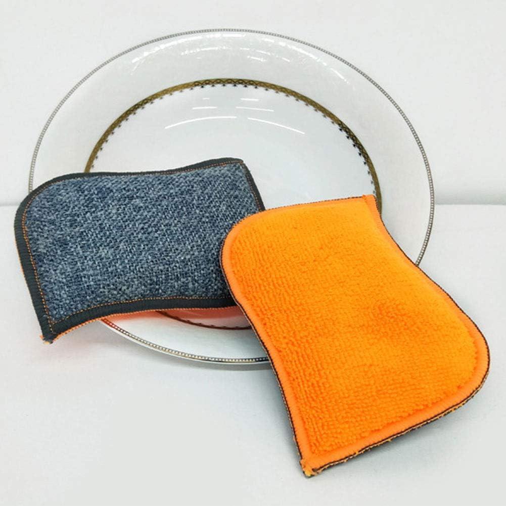 3 unidades Esponja de silicona de doble cara para platos y utensilios de cocina