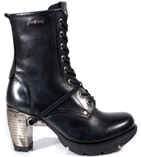 d9c461b287e New Rock Newrock TR001-S1 Ladies Women Trail Black Leather Gothic Punk Boots  (UK