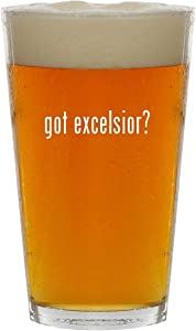 got excelsior? - 16oz Clear Glass Beer Pint Glass