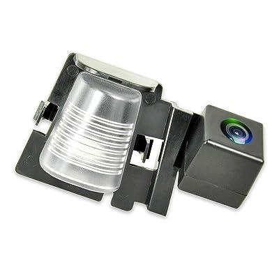EWAY Rear View Backup Cameras for JEEP Wrangler 2007-2020 Waterproof Reverse Reversing IR Night Vision Backing License Plate Cameras(Black, 1 Pack): Beauty