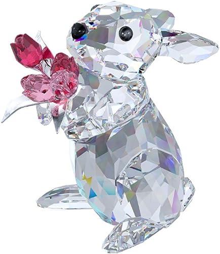 SWAROVSKI Rabbit with Tulips Figurine