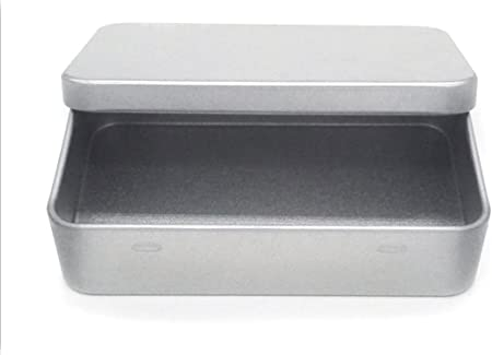 dingsheng 94 x 22 x 59 mm pequeña caja de lata Metal Bisagra Parte Superior lata contenedores/joyas caja para manualidades caja de joyería de almacenamiento Kit: Amazon.es: Hogar