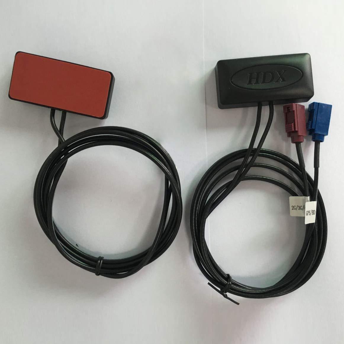 CUHAWUDBA Gprs Interfaz Dual De GPS//BD gsm para Antena Triple 4G Transmitida por Veh/ículo