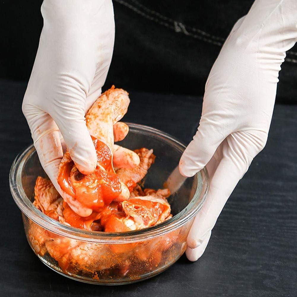 100er Profi Latexhandschuhe Einmalhandschuhe Einweghandschuhe Latex Einweg-Kochhandschuhe ungepudert puderfrei transparent Gr/ö/ße S//M//L.