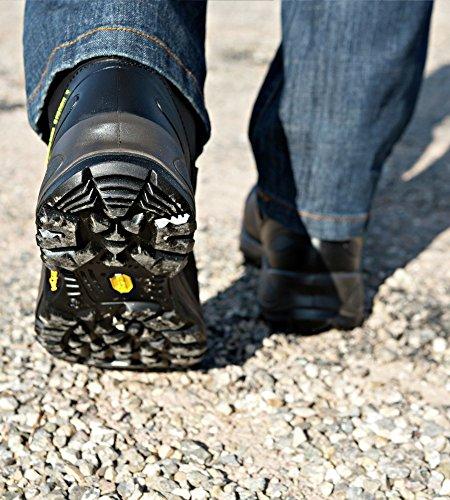 Sicherheitsschuhe S3 SRC HRO Trient Plus FLEXITEC schwarz - Schuhe EN ISO 20345 mit Durchtrittschutz S3 - Arbeitsschuhe wasserabweisend S3 - Gr. 47