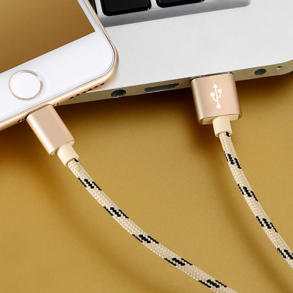 ,C,6.6ft Y/&SJ Lightning Charger Cable 2Pcs High Speed Charger Cable Lead USB Fast Charging Nylon Braided Cable for iPhone Xs Max X XR 8 7 6S 6 Plus SE 5 5S 5C Ipad iPod