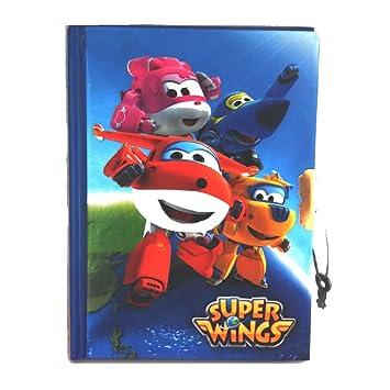 GUIZMAX Diario Super Wings Cuaderno Secret Mejor: Amazon.es ...