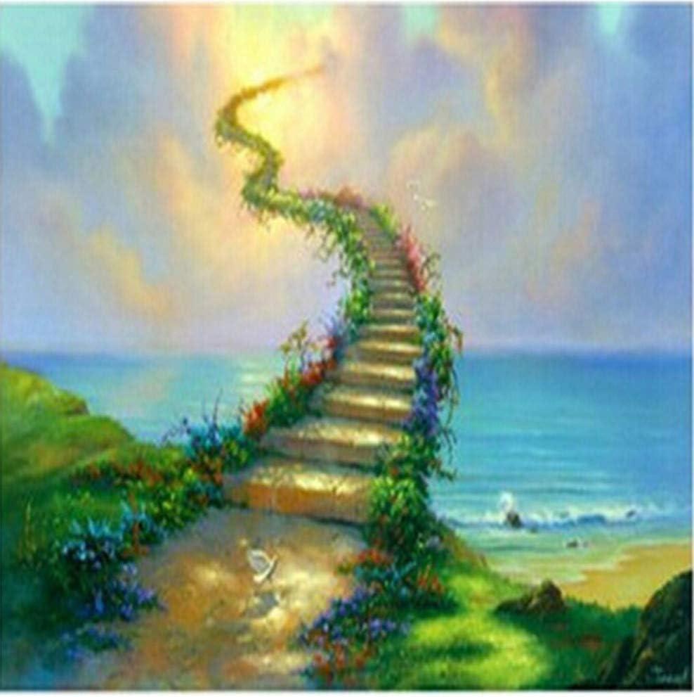 plmko Escalera Al Cielo Jim Warren Cuadro Lienzo Pintura Cuadros De La Pared para Sala De Estar por Números Arte De Pared 40x50cm: Amazon.es: Hogar