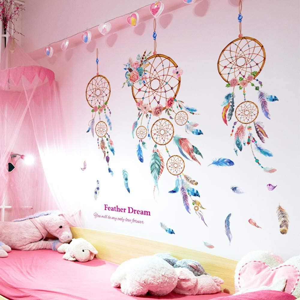 Blue Dandelion Wall Stickers as Wall Decoration for Living Room Nursery 70/×170cm|Decorative Wall Decal Wallpaper for Wall Window Furniture Kitchen Window Hallway Pdrui Wall Stickers for Bedroom