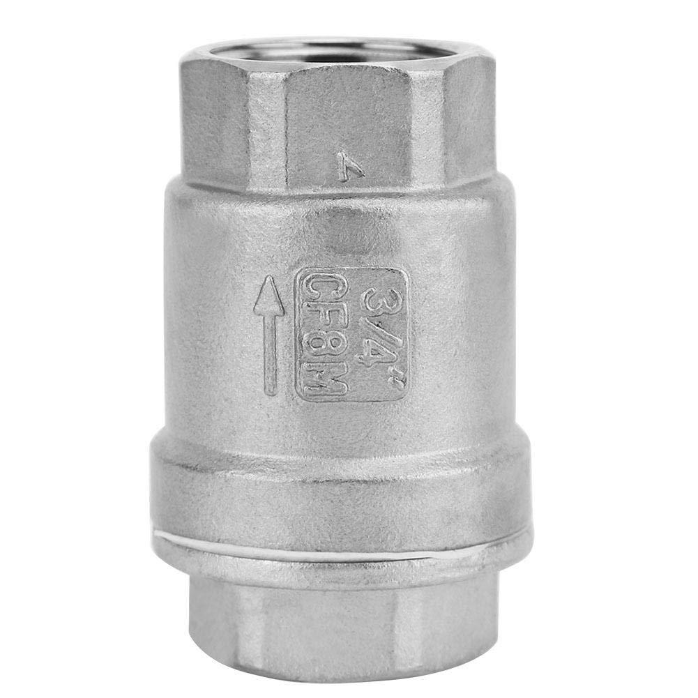 Valvola di ritegno in Acciaio Inox 304 con Filettatura Femmina per Acqua e Gas Economica Durevole e Facile da installare 1 Maggiore Resistenza alla corrosione DN25