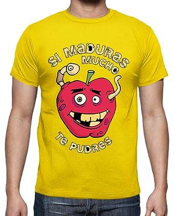 latostadora - Camiseta Manzana Podrida para Hombre Amarillo limón ...