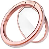 Mirror Cellphone Ring Stand Holder, Smart Phone Ring Holder Mirror Series Stylish Ring Stand Grip Mount for iPhone X 8 7/7 Plus,Samsung Galaxy S8/S7,ipad -Rose Gold