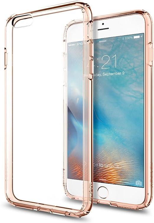Spigen Ultra Hybrid Works with Apple iPhone 6S Plus Case - Rose Crystal