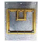 FSR FL-500P-B 22JA Floor Box Cover Beveled Brass Flange Lift Off Door Floor Power
