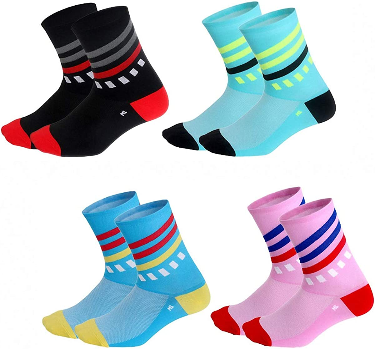 Cycling Socks Running Outdoor Sports Compression Bike Sock Men Women Comfortable