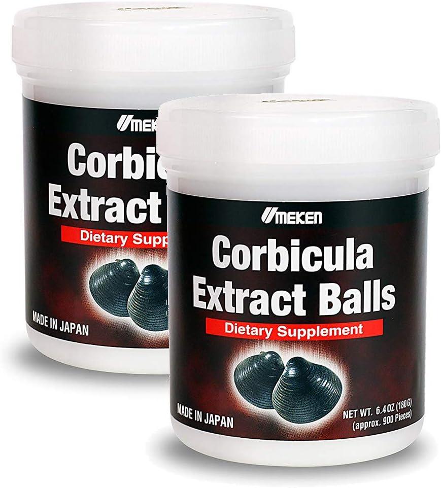 2X Umeken Corbicula Extract Balls – Amino Acids, Methionine, Taurine, Arginine, B Vitamins, Minerals, Silymarin, and Glycogen. 6 Months Supply Total
