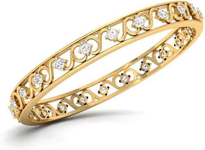 6.75 inches identification-bracelets Size IJ  SI 0.182 cttw Round-Cut-Diamond 18K Yellow Gold