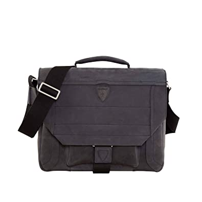 78c4b68862053 Strellson Hunter Messenger Bag Leather 40 cm Notebook Compartment Blue   Amazon.co.uk  Shoes   Bags
