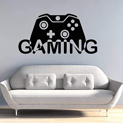 WWYJN Video Game Wall Decal Gaming Gamepad Design Wall ...