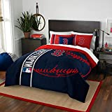 Northwest NOR-1MLB836000004BBB 76 x 86 Boston Red Sox MLB Full Comforter Set, Soft & Cozy