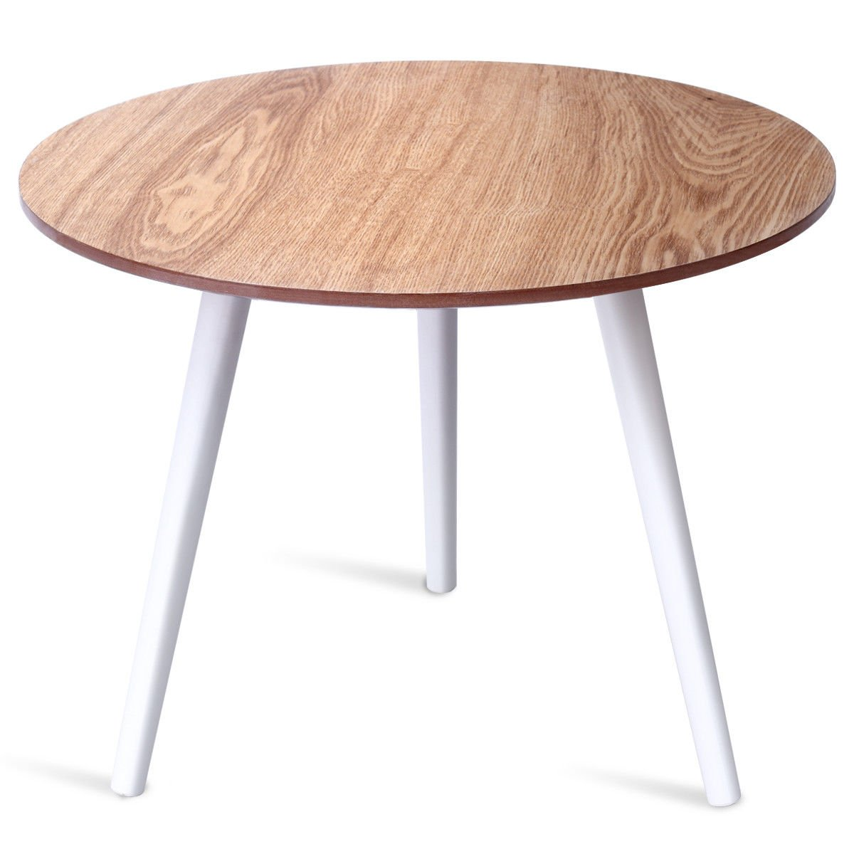Modern Round Coffee Table Side Tea End Table Pine Furniture Dining Living Room Modern Round Coffee Table Side Tea End Table Pine Furniture Dining Living Room