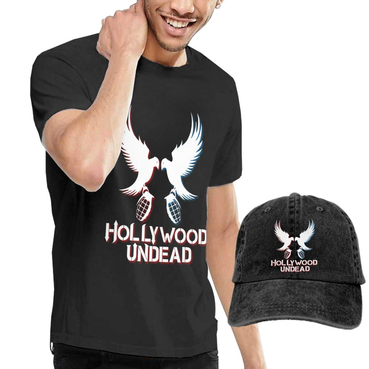 Hfusih.fhs6f789 Hollywood Undead Adult Cap Adjustable Cowboys Hats Baseball Cap