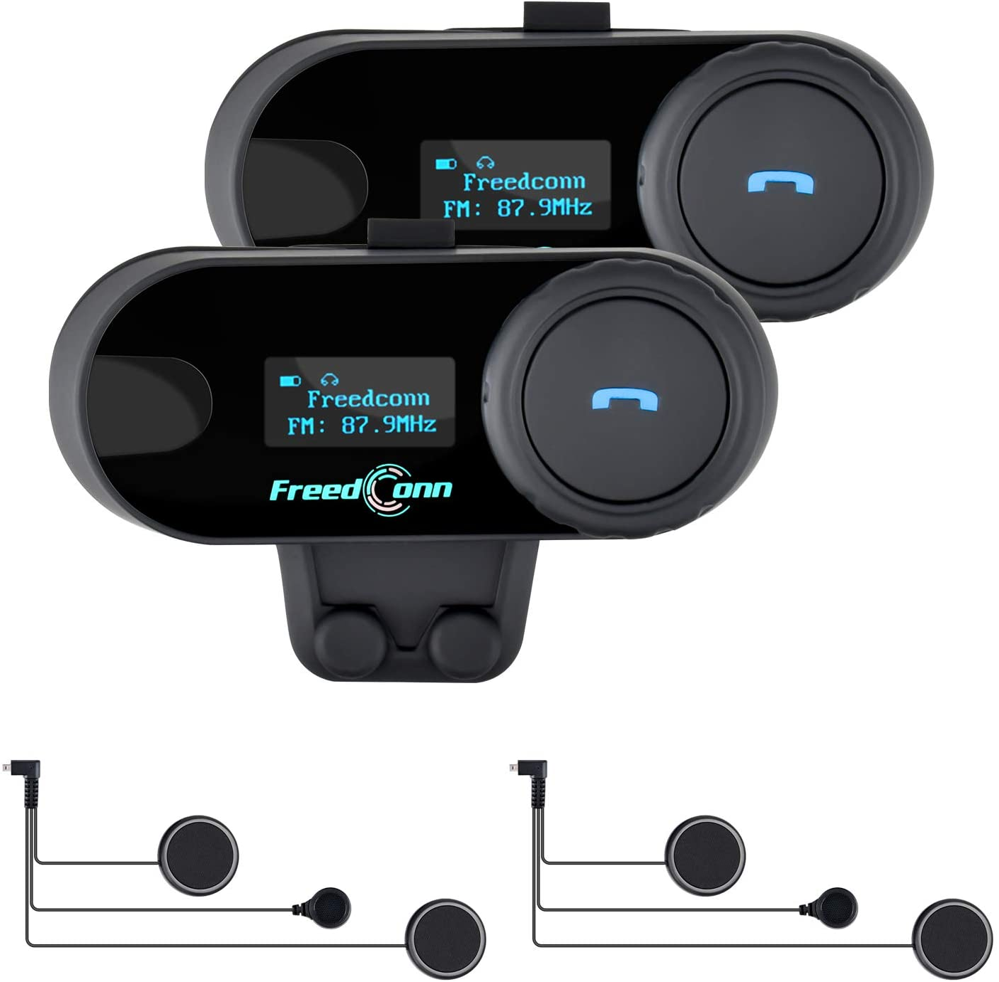 Interphone Active Bluetooth Intercom System Single Pack MP3 Radio GPS Helmet